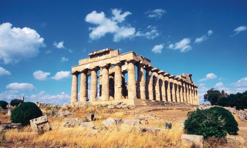 Temple E, site archéologique de Selinunte.
