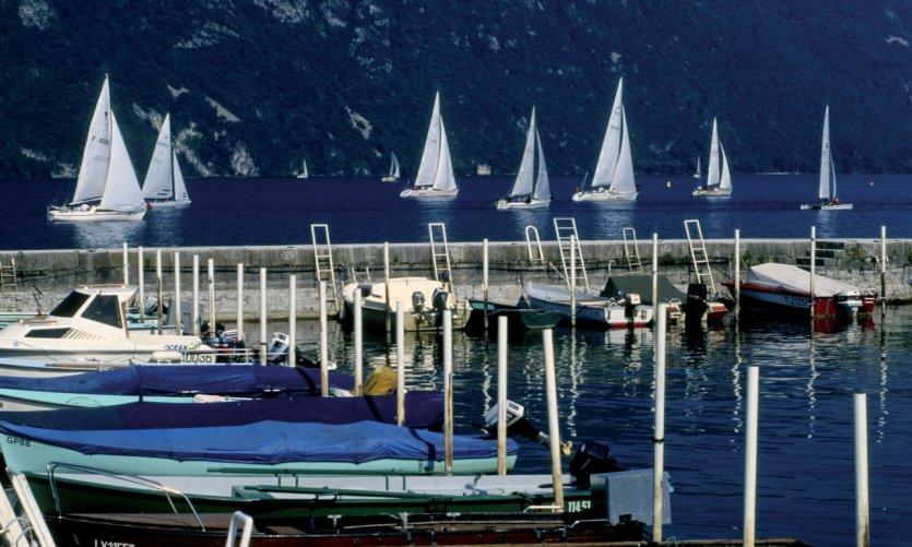 Voiles sur le lac du Bourget - Aix-les-Bains