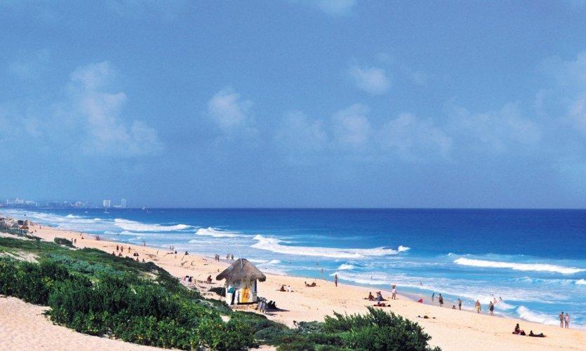 La plage de Cancun.