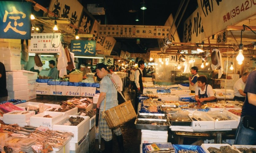 Marché aux poissons Tsukiji.