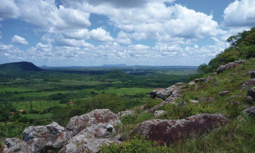 Paysage des environs du Cerro Yaguarón.