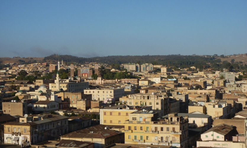 <p>Panoramic view of Asmara from the cathedral tower.</p>
