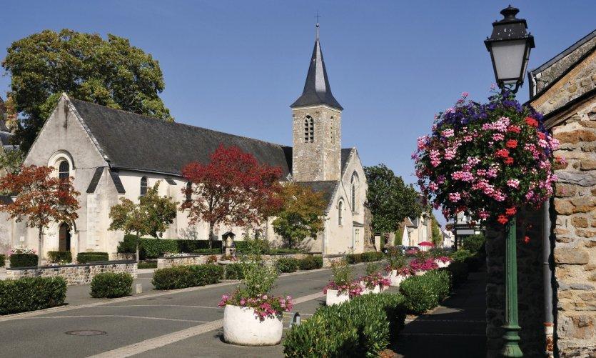L'église de Solesmes dans la Sarthe