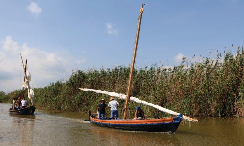 Parc naturel de la Albufera, lagune d'eau douce.