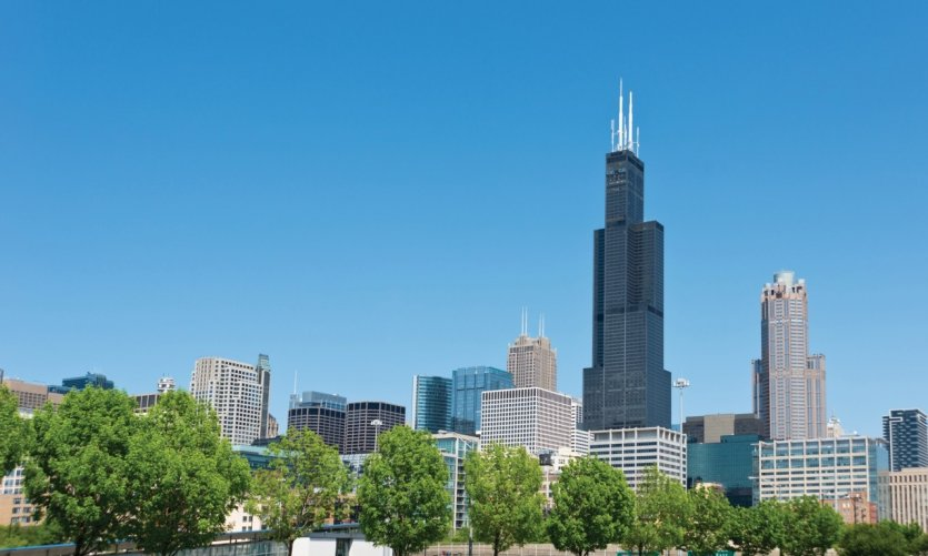 Chicago Downtown with Sears Tower Check out my Chicago Lightbox with more images: