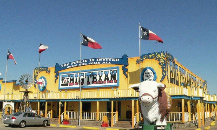 Le Big Texan Ranch à Amarillo au Texas est ouvert depuis 1960.