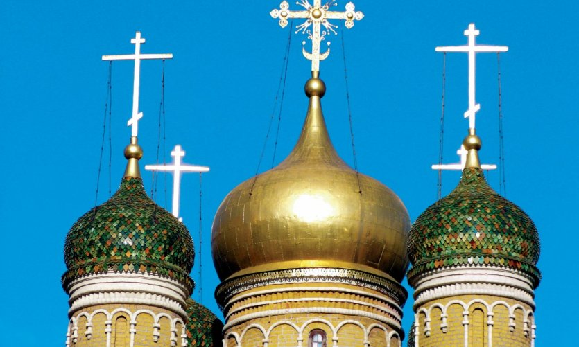 Kitaï Gorod, clocher d'église (détail).