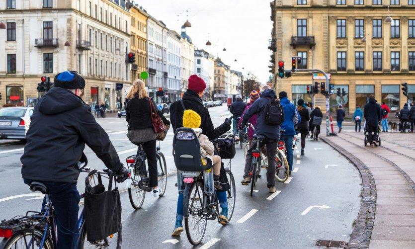 A vélo dans Copenhague.