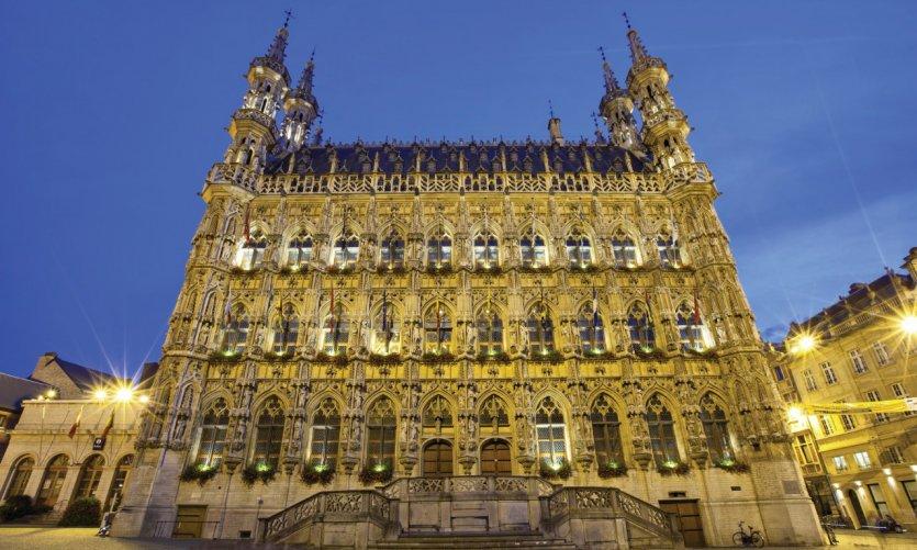 Hôtel de ville gothique de Louvain.