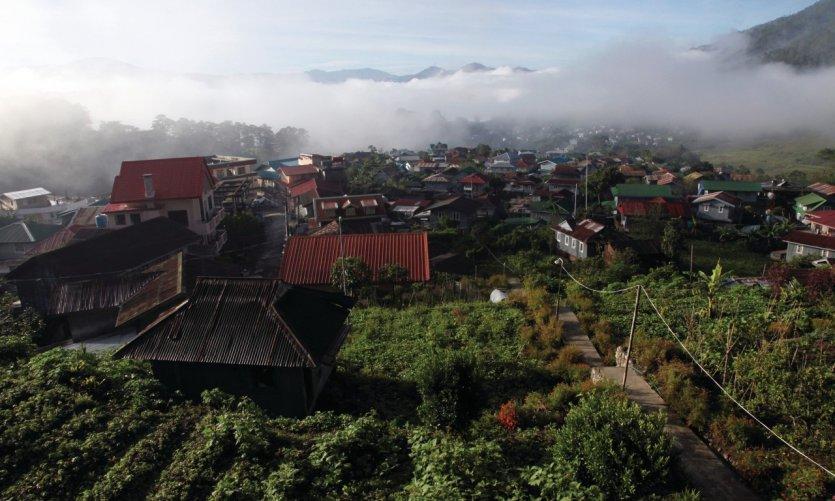 El pueblo de Sagada al amanecer.