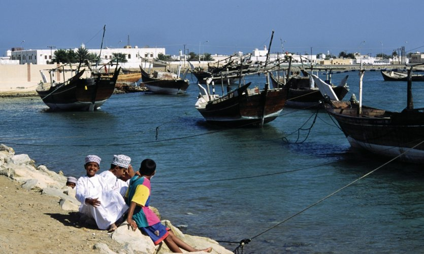 Port d'Al-Ayja dans la banlieue de Sur est un des lieux de construction des boutres.