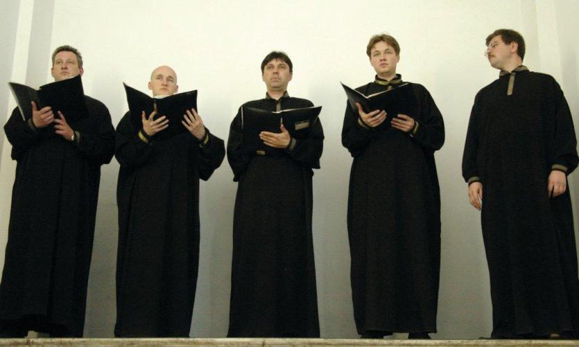 Chorale d'hommes à la cathédrale Pierre-et-Paul.