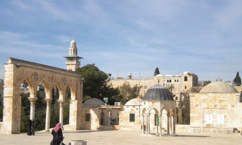À l'interieur de l'esplanade des mosquées.