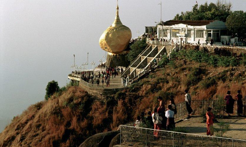 Rocher doré de la pagode de Kyaikhtiyo.