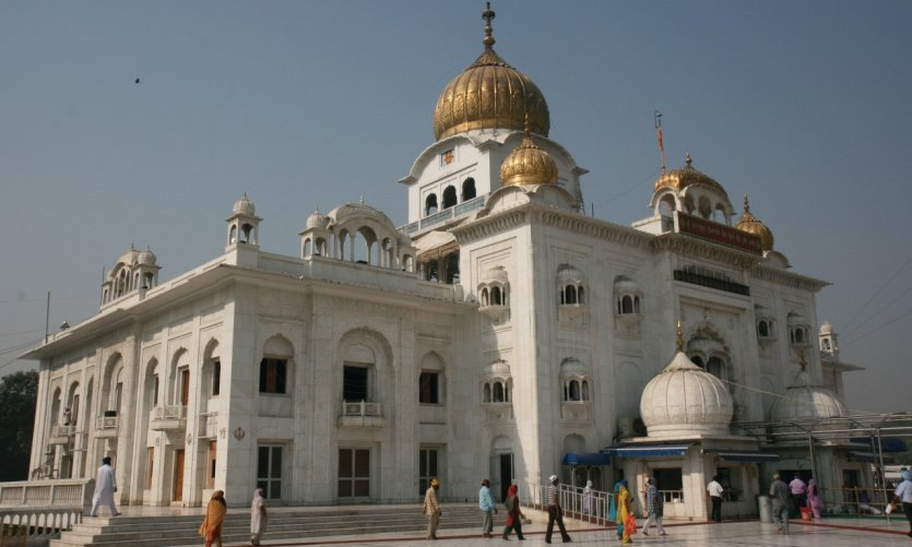 Le temple Sikh Gurdwara Bangla Sahib.