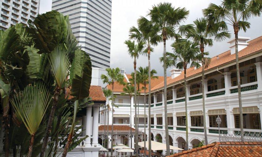Arcades commerciales de l'hôtel Raffles
