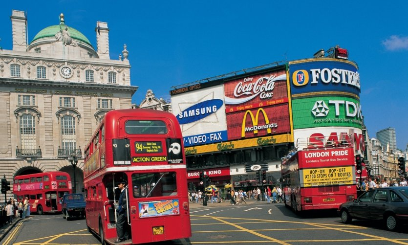 Piccadilly Circus, le carrefour de Londres.