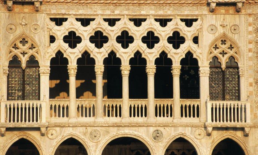 Façade de la Ca' d'Oro, l'un des plus beaux palais du Grand Canal dans le sestiere du Cannaregio.