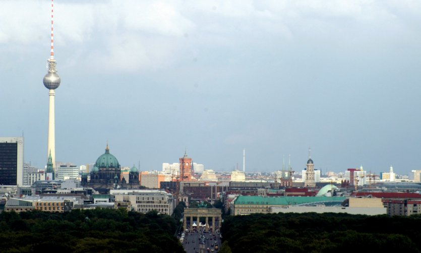 Vue sur Berlin depuis la colonne de Siegessaüle