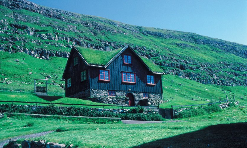 Maison champêtre de Kirkjubøur.
