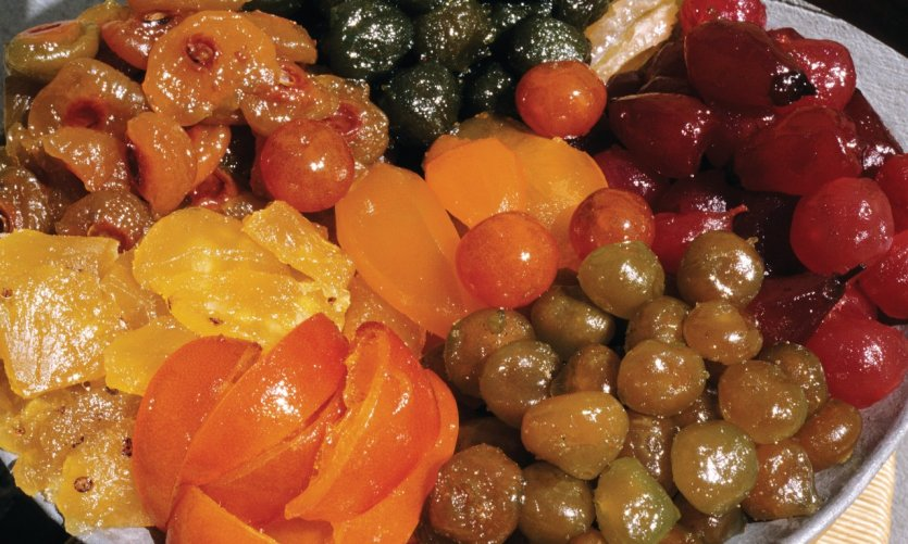 Fruits confis d'Apt, une des spécialités du Vaucluse
