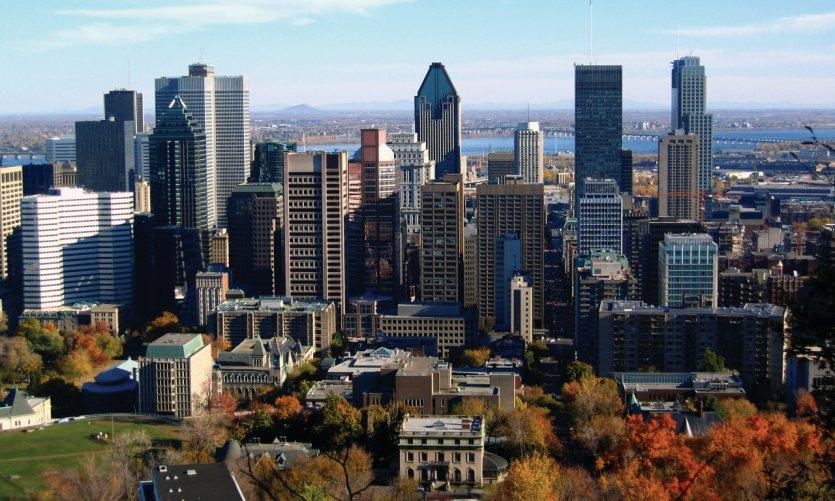 Vue du centre-ville de Montréal.