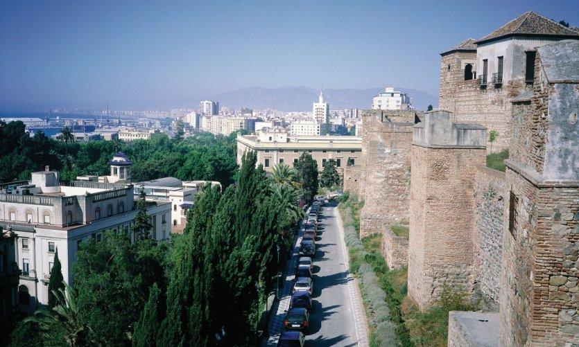 Málaga vue depuis l'Alcazaba.