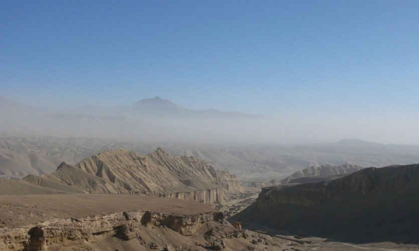 <p>The Bamiyan Valley.</p>