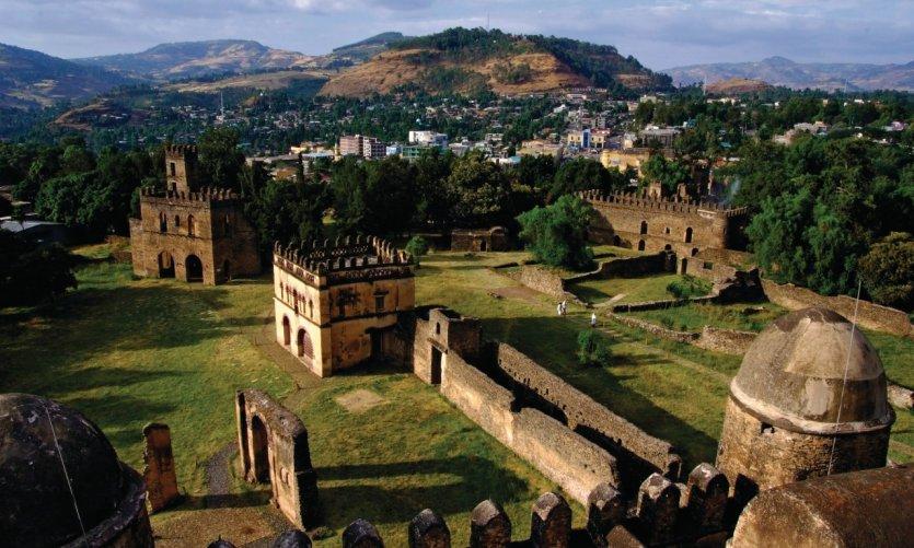 Le palais du souverain Fasilidas (1632-1667), à Gondar.