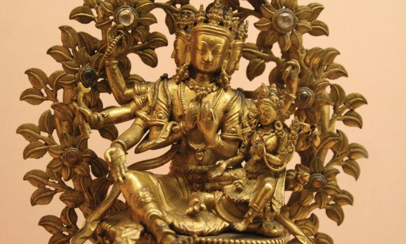 Estatua de Halahala Lokeshwara en el Chhatrapati Shivaji Maharaj Vastu Sangrahalaya (anteriormente museo Prince of Wales).