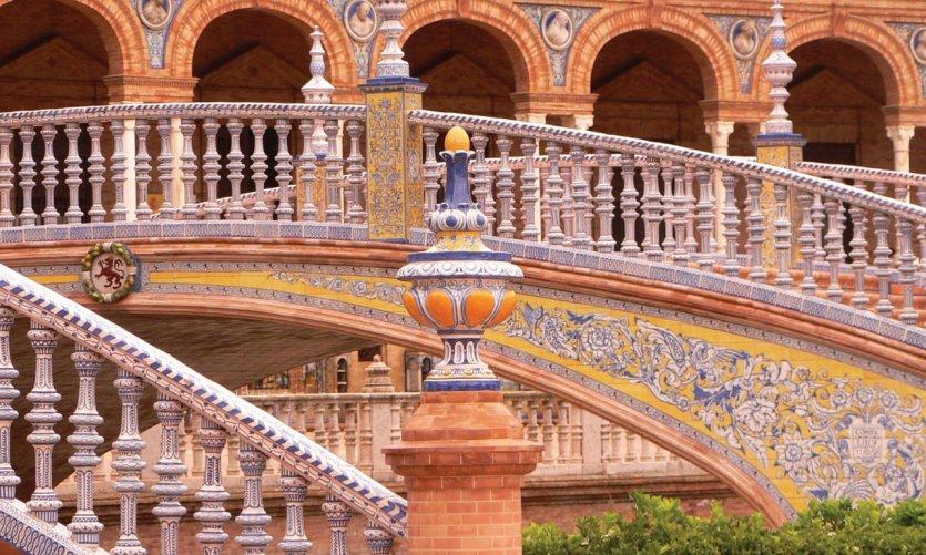 Architecture de la Plaza de Espana.