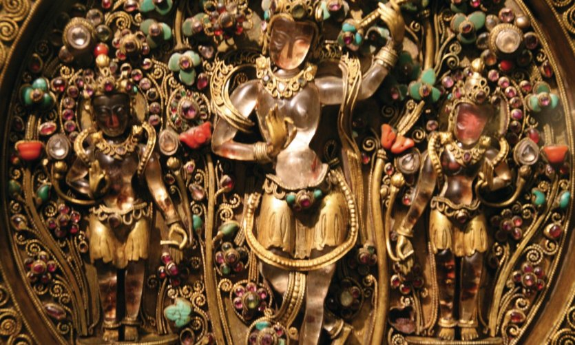 Figures incrustées de pierres précieuses au Chhatrapati Shivaji Maharaj Vastu Sangrahalaya (anciennement musée Prince of Wales).
