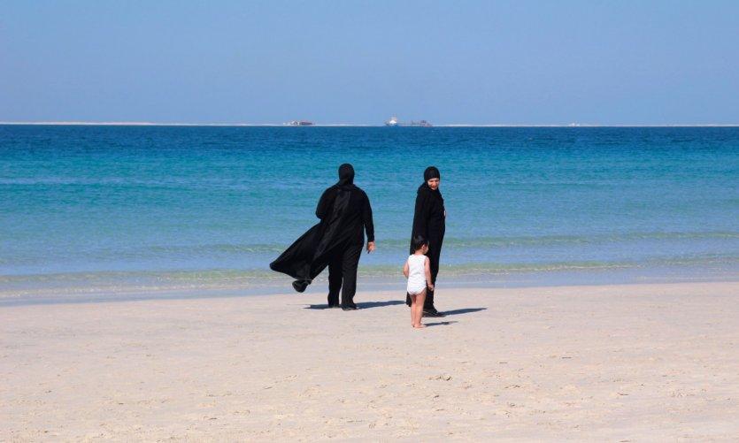 Dubaiotes à la plage