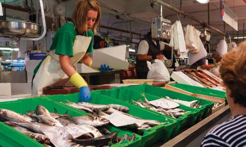Marché de la Ribera, le plus grand marché alimentaire d'Europe.