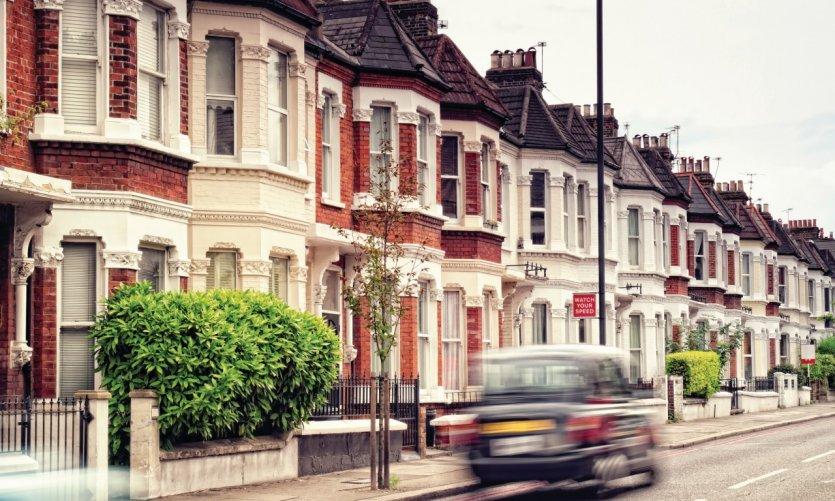 Maisons d'un quartier résidentiel de Londres