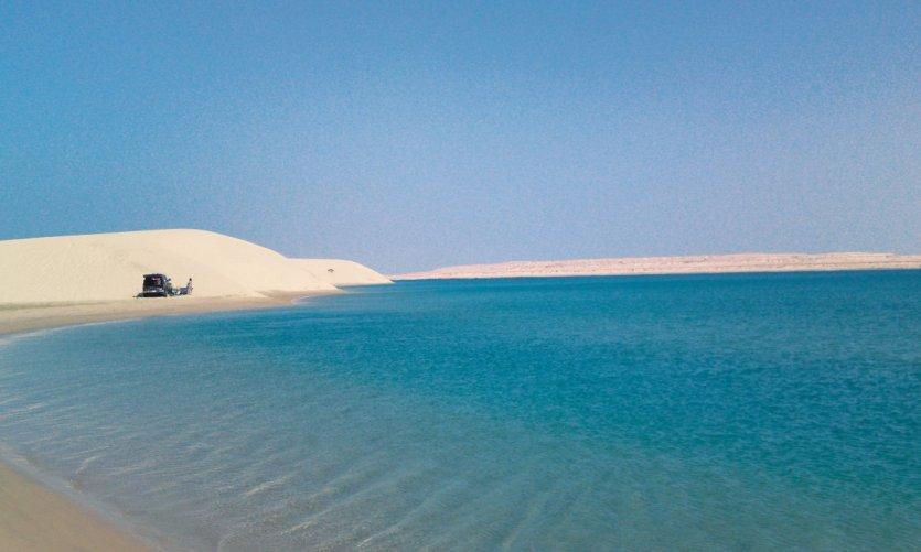 Mer intérieure au sud du Qatar.