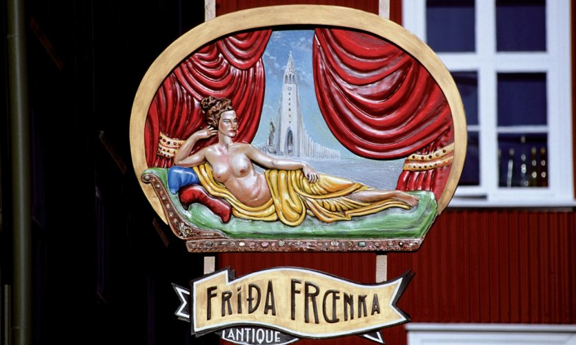 Fríða fraenka, magasin d'antiquités.