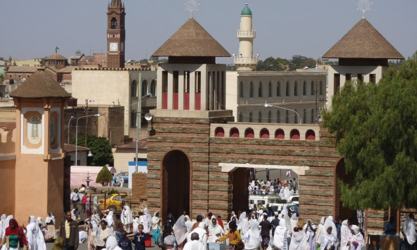 <p>The towers of the Orthodox Cathedral, the steeple of the Catholic Cathedral and the minaret of the Great Mosque testify to the religious diversity in the country.</p>