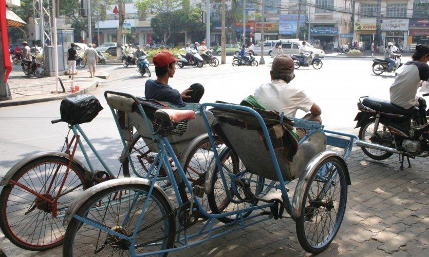Scène de rue à Hô Chi Minh-Ville.