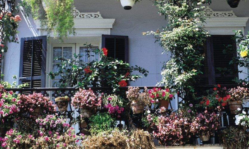 Balcon fleuri de La Nouvelle-Orléans.