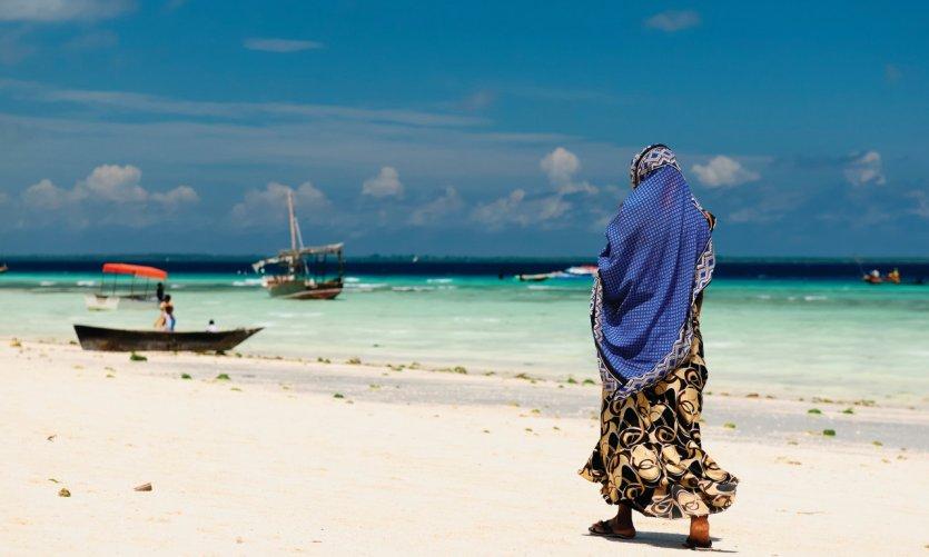Plage de Zanzibar.