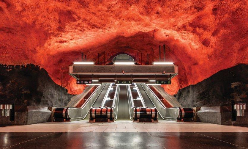Gare Solna Centrum de Stockholm.