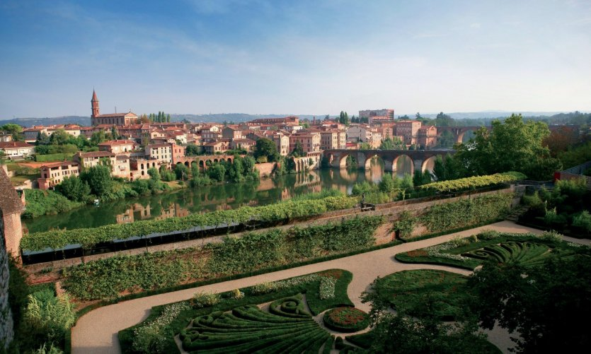 Vue d'Albi, depuis le jardin du palais de la Berbie