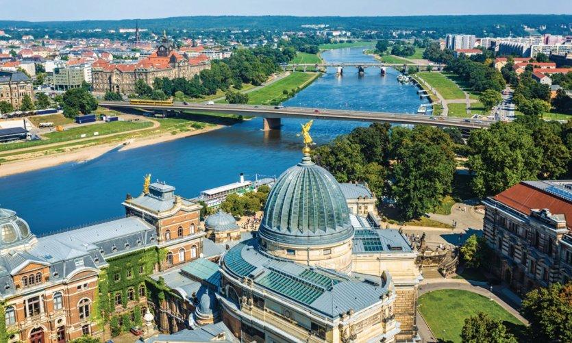 Panorama de Dresde.