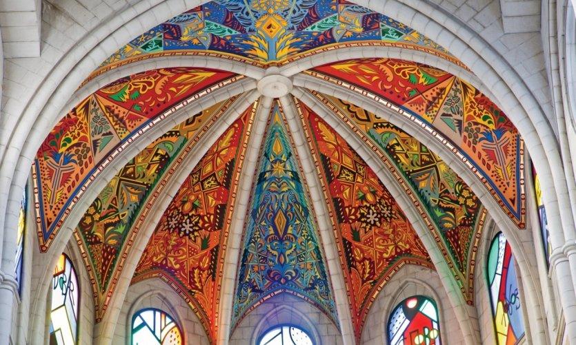 Intérieur de la Cathédrale Nuestra Señora de la Almudena.