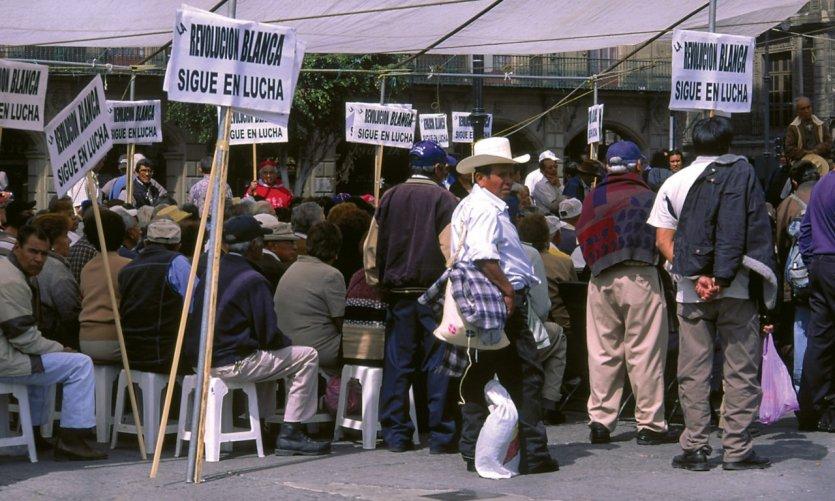 Manifestación en la Plaza de la Constitución.