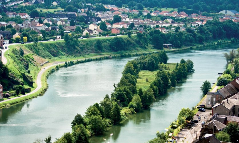 Vue aérienne de la Meuse