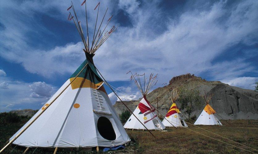 Tentes d'indiens au sein d'Arches National Park.