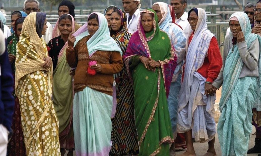 Voyageurs indiens à New Delhi.