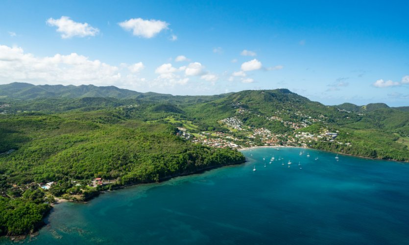 <p>Grande Anse view from the sky.</p>